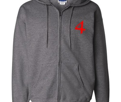 4th Musketeer Embroidered Full-ZIp Hooded Sweatshirt